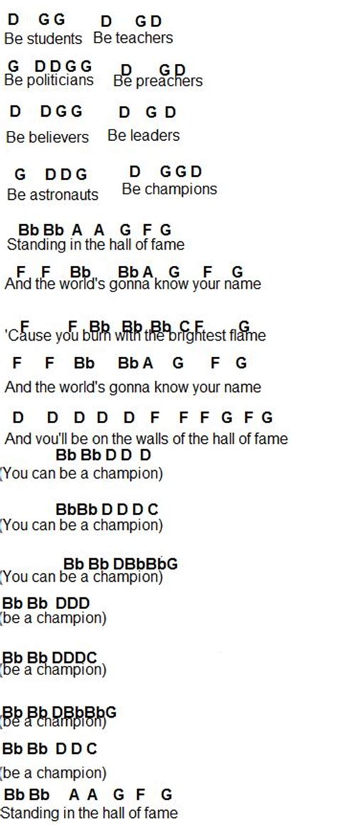 Hall of Fame—The Script • Flute Sheet Music in 2020