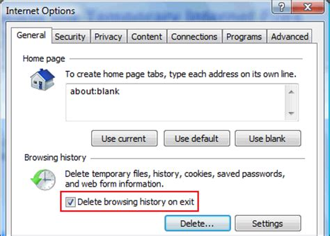 Outwardtruth - How to delete temporary Internet files in