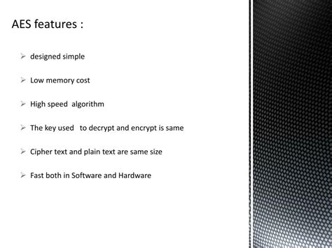 PPT - AES (Advance Encryption Standard) PowerPoint